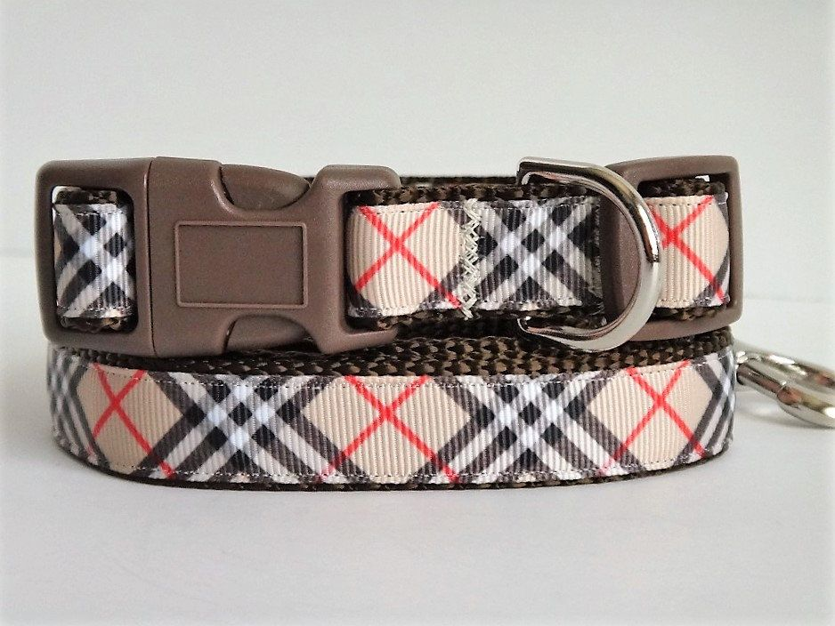 Burberry Dog Collar Burberry Style Plaid Dog Collar By Swanky Pet