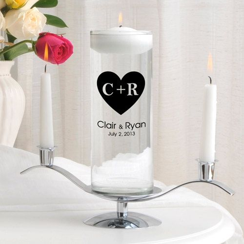 Personalized Wedding Unity Candle Set_330 by CathysCustomCandles
