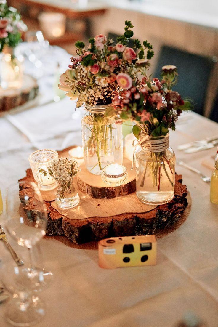 Rustic Wedding Centerpiece For A Rustic Meets Romantic Wedding Ideas