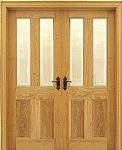 Oxford Pippy Oak 40mm Shown As Double Doors Internal Doors Pippy Oak Doors Oak Doors Internal French Doors Internal Doors