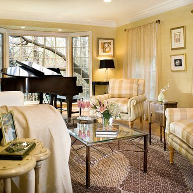 Baby Grand Piano In Small Living Room Design Ideas, Pictures, Remodel and Decor
