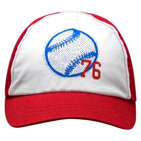 ec3a6ea689e Toddler Boys  76 Baseball Print Baseball Hat Circo™ - Circo™ - White Red    Target
