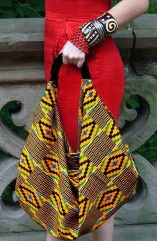 The pattern on this bag gives a nice tribal feel and adds a fresh burst of colour to any outfit