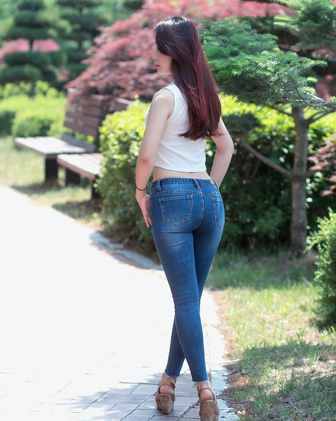 Японские попки в джинсах фото — 11