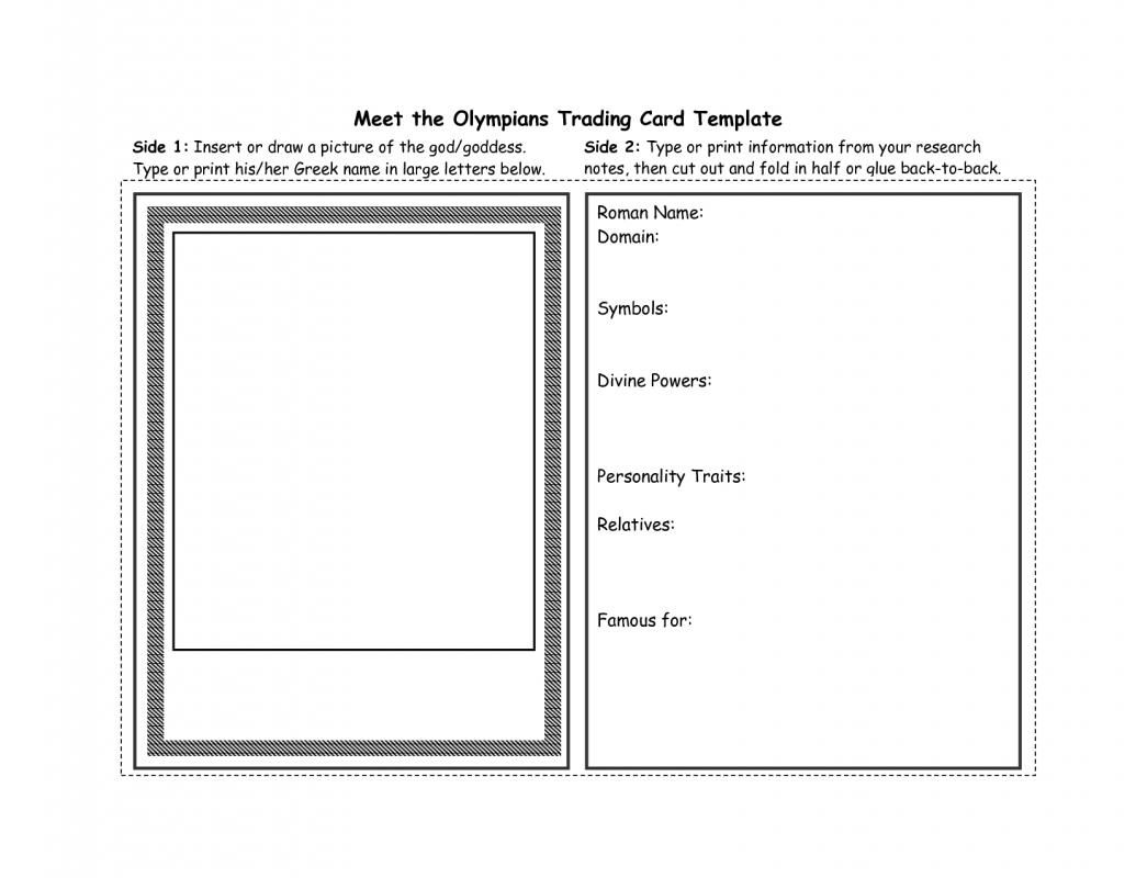 Free trading card template template business throughout