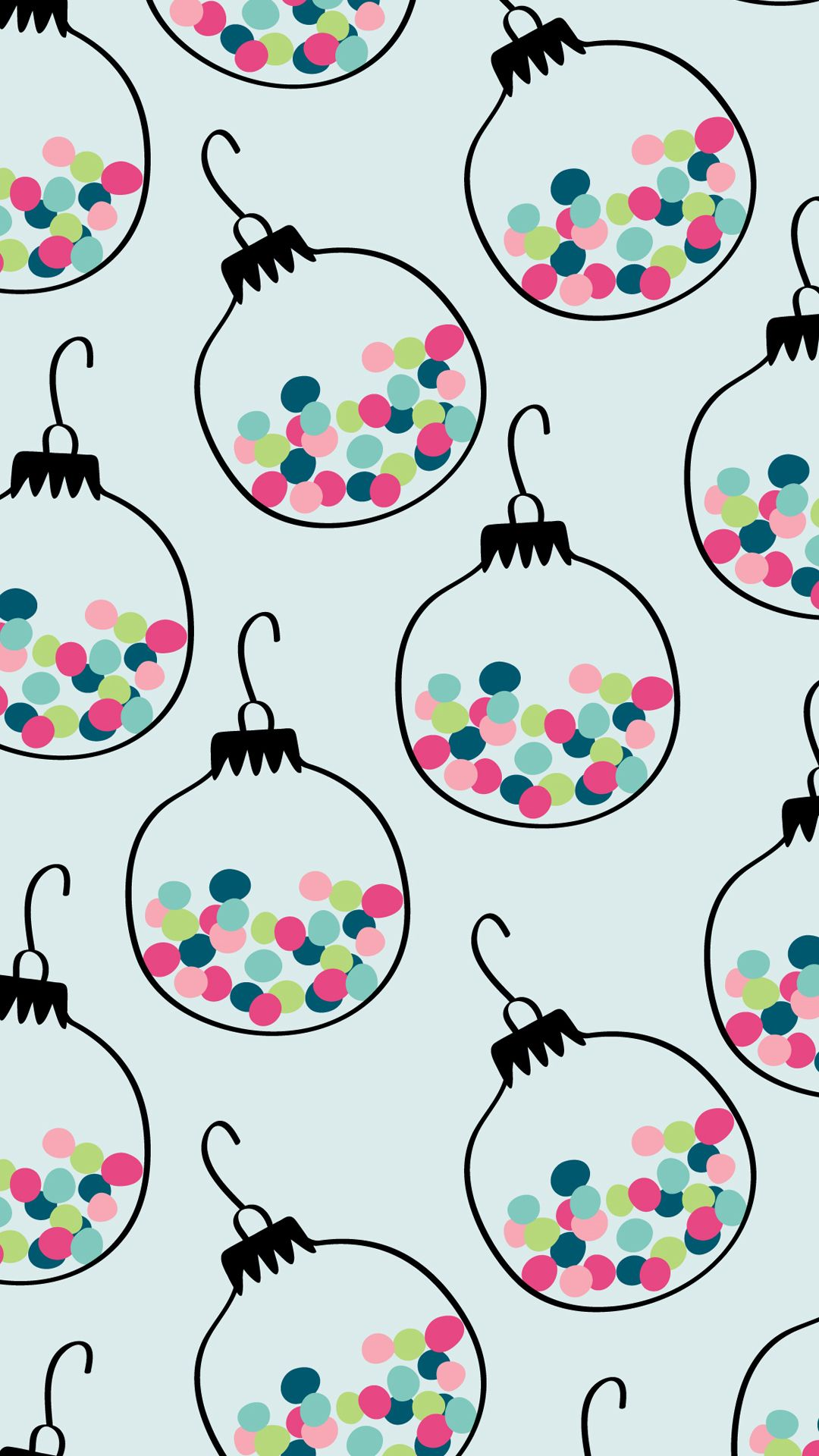 Festive Ornament Print #christmaswallpaperiphone