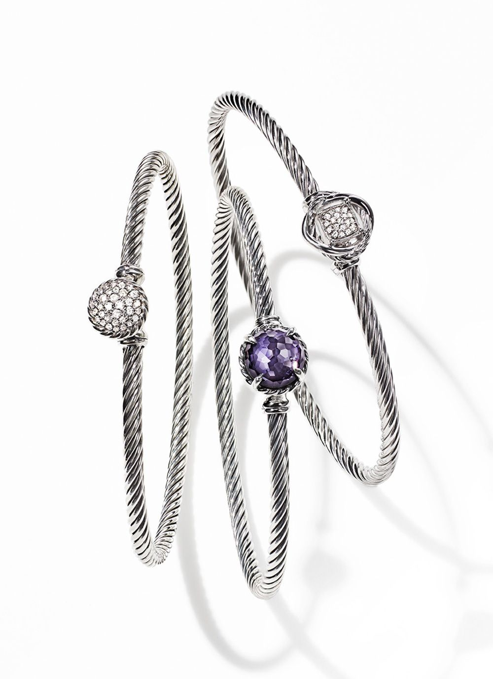 Delicate cable bracelets in sterling silver david yurman