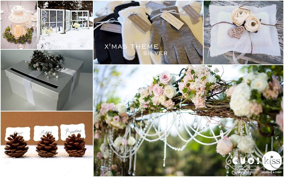 Silver white wedding. #redwedding #whitewedding #weddingideas #weddingthemes. For saving time and money of modern and full-time working brides and grrom, KISS Wedding Event has created 22 wedding concepts for wedding decoration, using popular color palettes in 2014 such as pastel pink, hot pink, red and white, white and silver, sequin golden, etc and special storylines such as highschool love, autumn love, love bus journey.