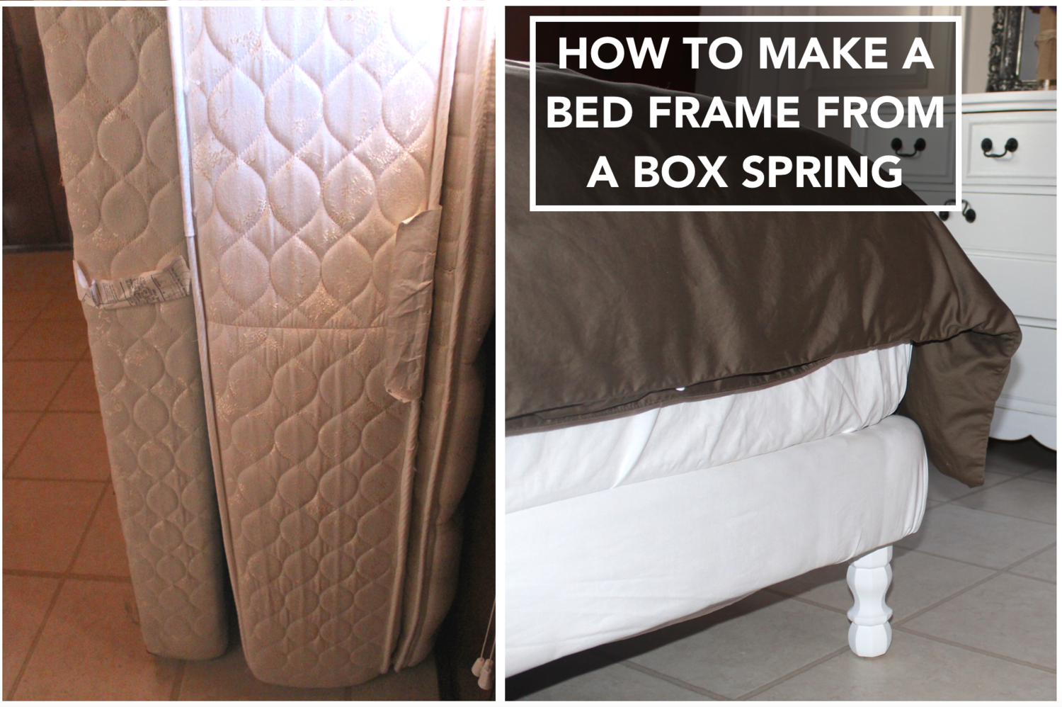 How To Make A Bed Frame From A Box Spring Making A Bed Frame Box Spring Bed Frame How To Make Bed