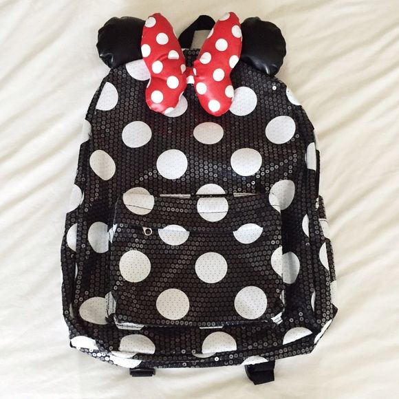 8c248cd27d Authentic Disneyland Minnie Mouse Sequin Backpack • Authentic Minnie Mouse  Backpack purchased from Disneyland. • Sequins all over