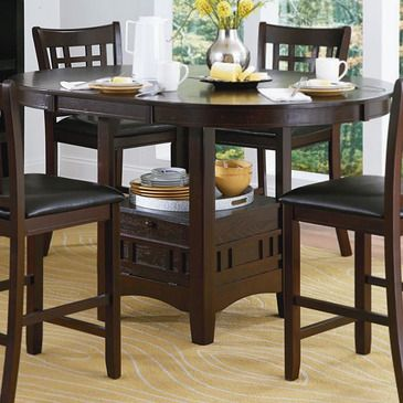 36+ Homelegance junipero 5 piece counter height dining table set cherry Tips
