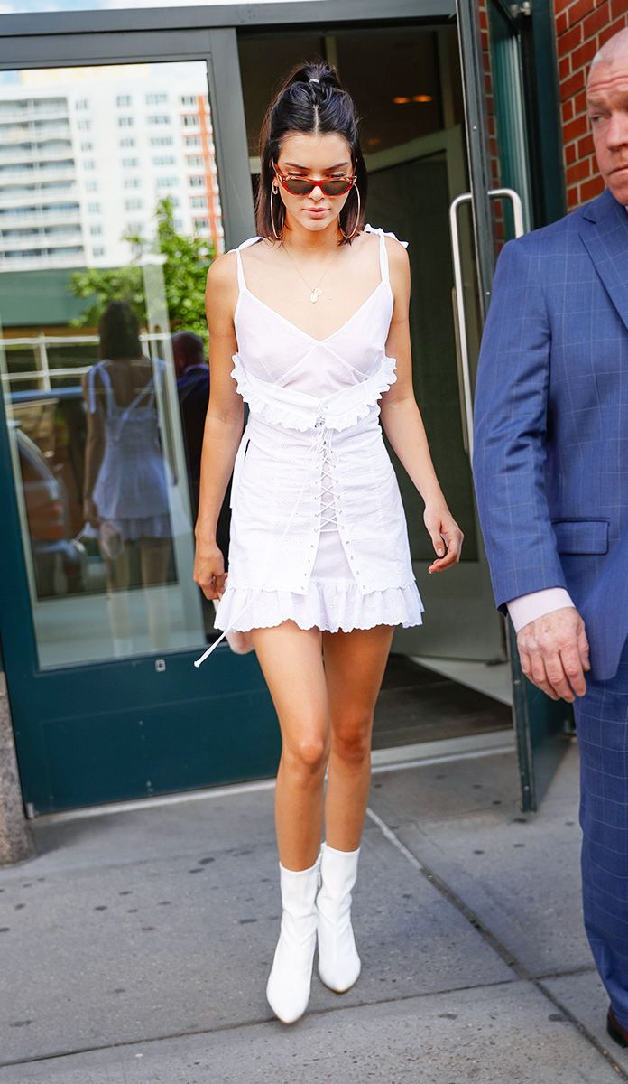 1ab7430a4db In Opening Ceremony Dress And Stuart Weitzman Shoes - In New York City