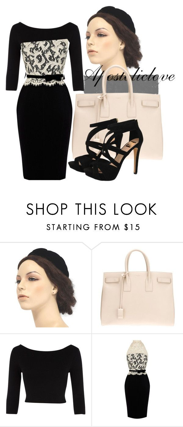 """:) (:"" by apostoliclove ❤ liked on Polyvore featuring Yves Saint Laurent, River Island, Karen Millen and Dolce Vita"