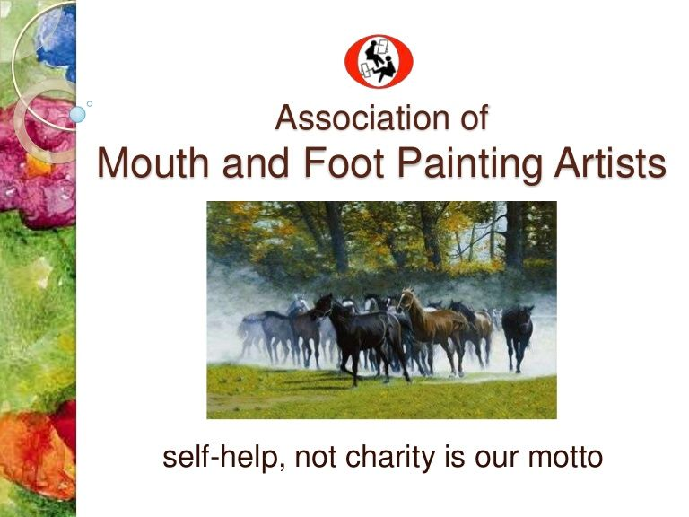 Association ofmouth and foot painting artists selfhelp