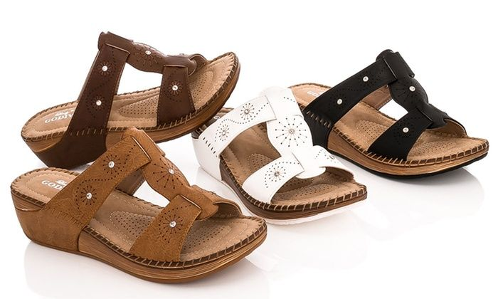 Lady Godiva Women S Comfort Wedge Sandals Wedge Sandals Sandals Wedges