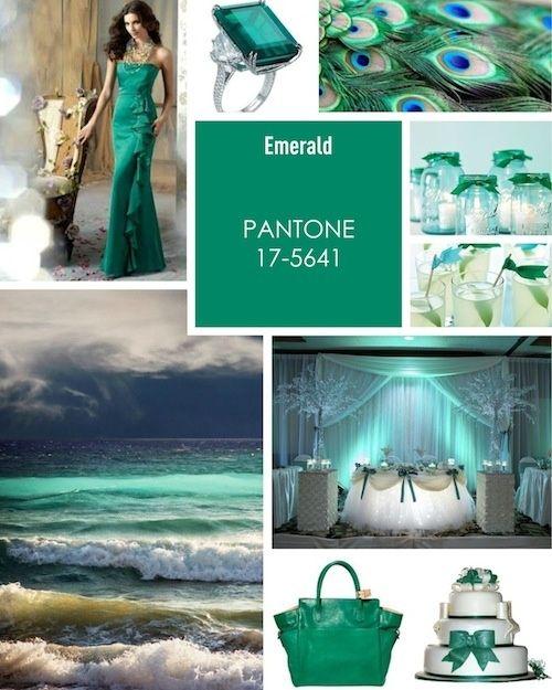 Emerald Green Inspiration  #coloroftheyear #pantone #emerald  www.BrassTacksEvents.com