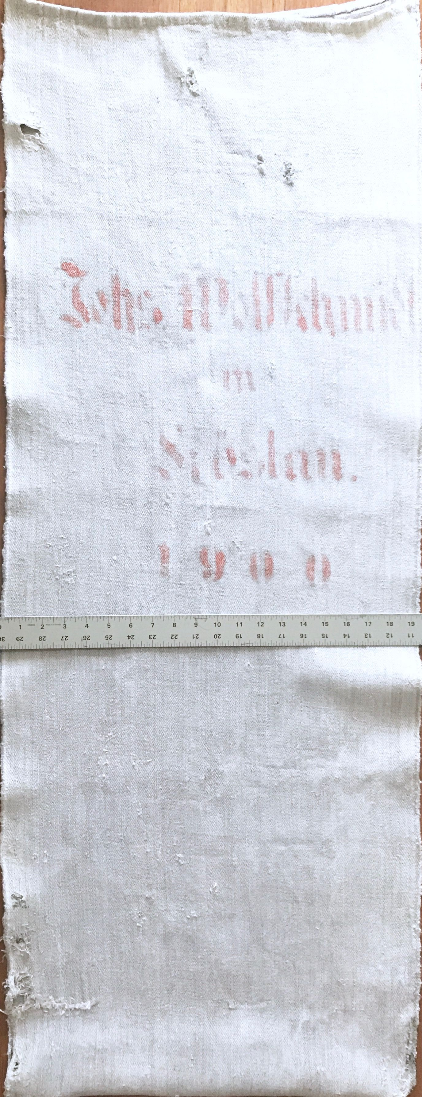 Original Historic German Grain Flour Sack Batch 56 RARE Color Print