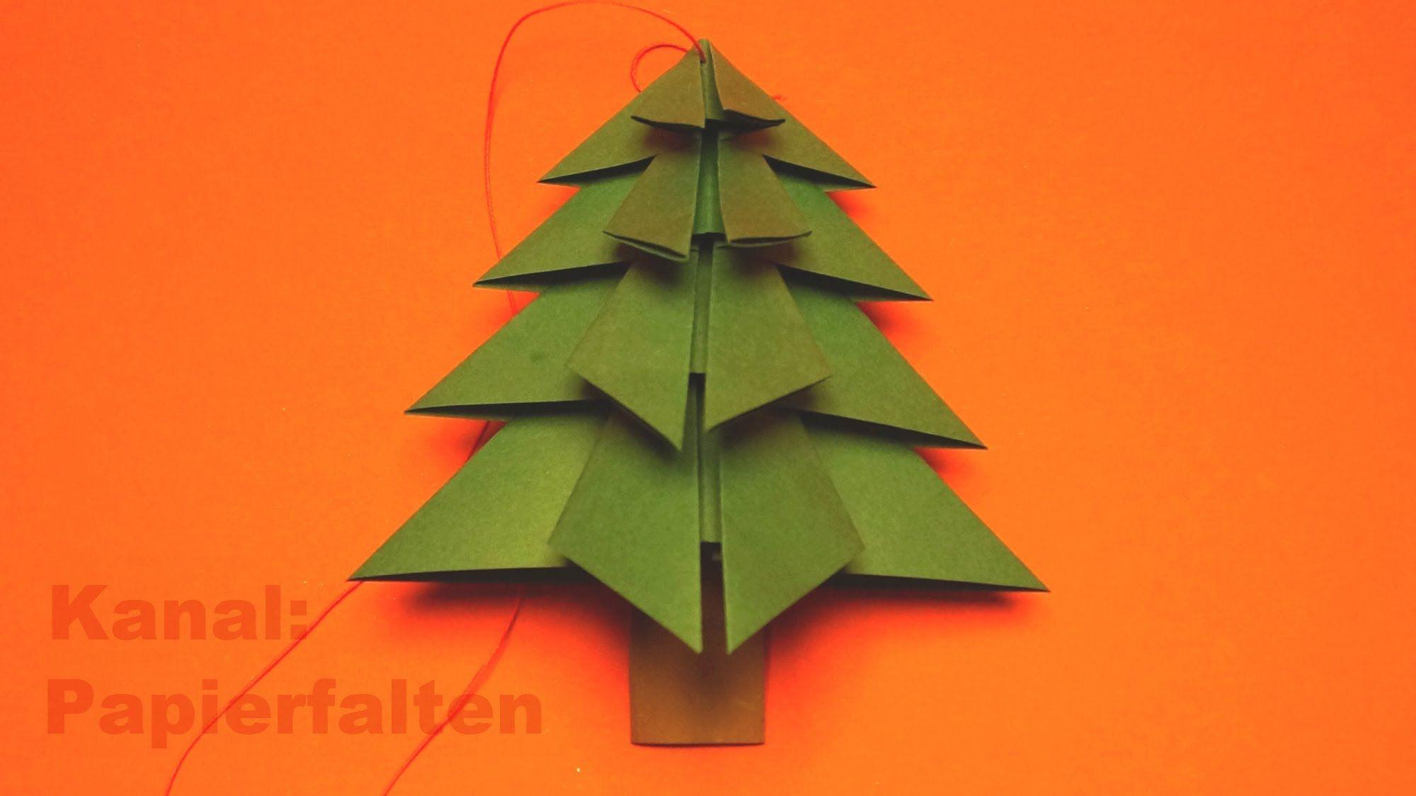 tannenbaum basteln f r weihnachten einfach zu falten ist. Black Bedroom Furniture Sets. Home Design Ideas