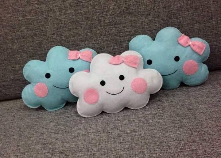handmade felt cute clouds