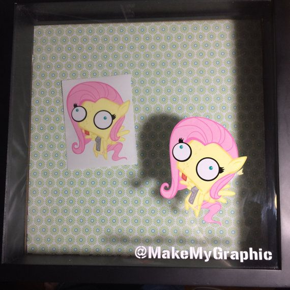 MLP Fan Art Pony Invader Zim Gir Decal Stickers - Fluttershy