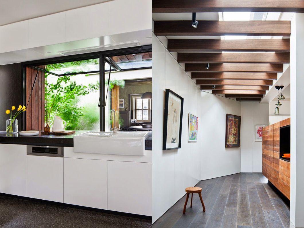 Rehabilitación de una casa antigua con aspecto moderno en Melbourne ...