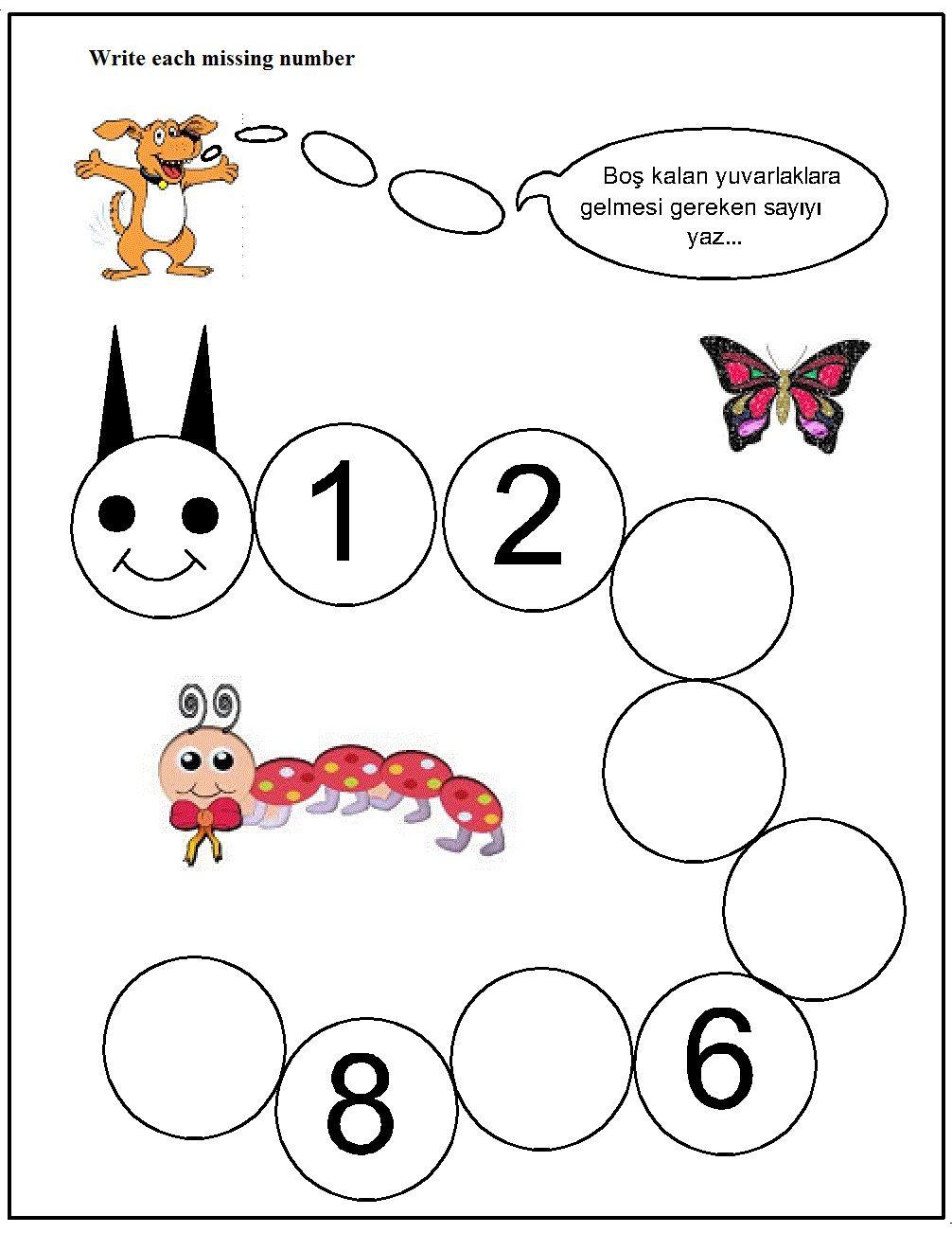 Missing Number Worksheet For Kids 6