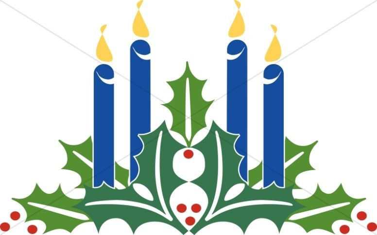 Advent Candles Clipart Christmas Church Banners Pinterest