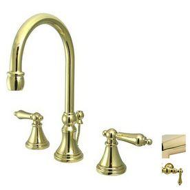 Elements Of Design Polished Brass 2 Handle Widespread Bathroom