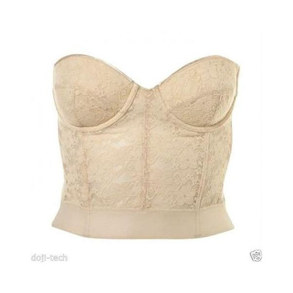 Topshop Cream Floral Vtg Lace Bralet Corset Crop Bustier Basque Top 10... ❤ liked on Polyvore featuring tops, floral crop top, beige crop top, corset tops, bralette crop top and cream lace top