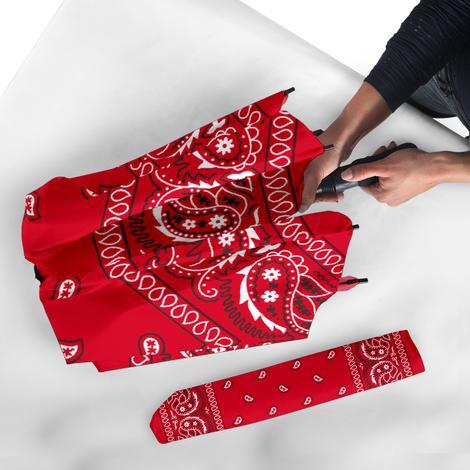 Bandana Fever Red Bandana Print Umbrella Bandana Fever Designs Print Umbrella Bandana Print Red Bandana