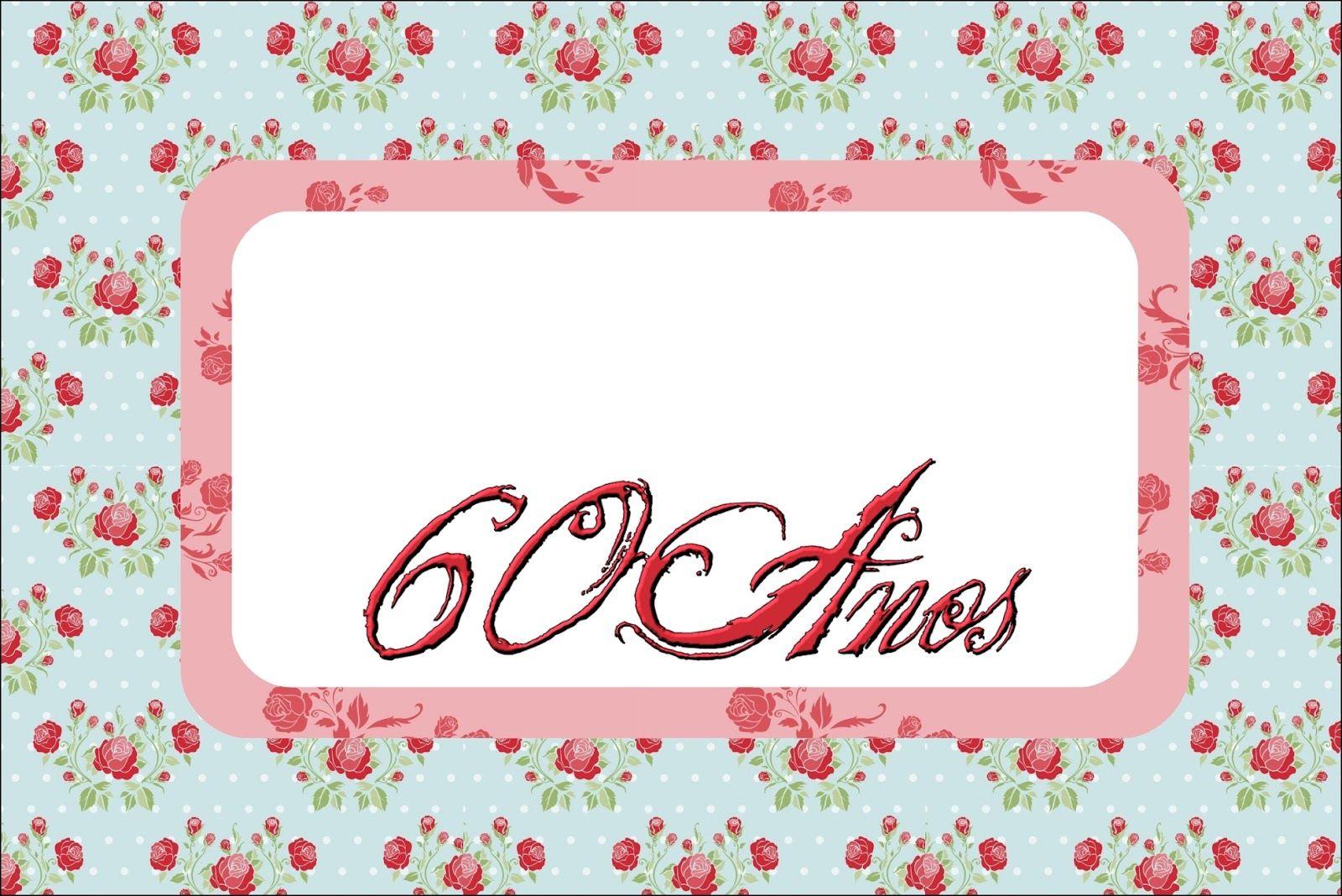Tarjetas De Invitacion Para Cumpleaños De 60 Años Mujer Para