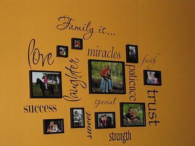 accent wall Homekeeping - wordy walls Pinterest Murales