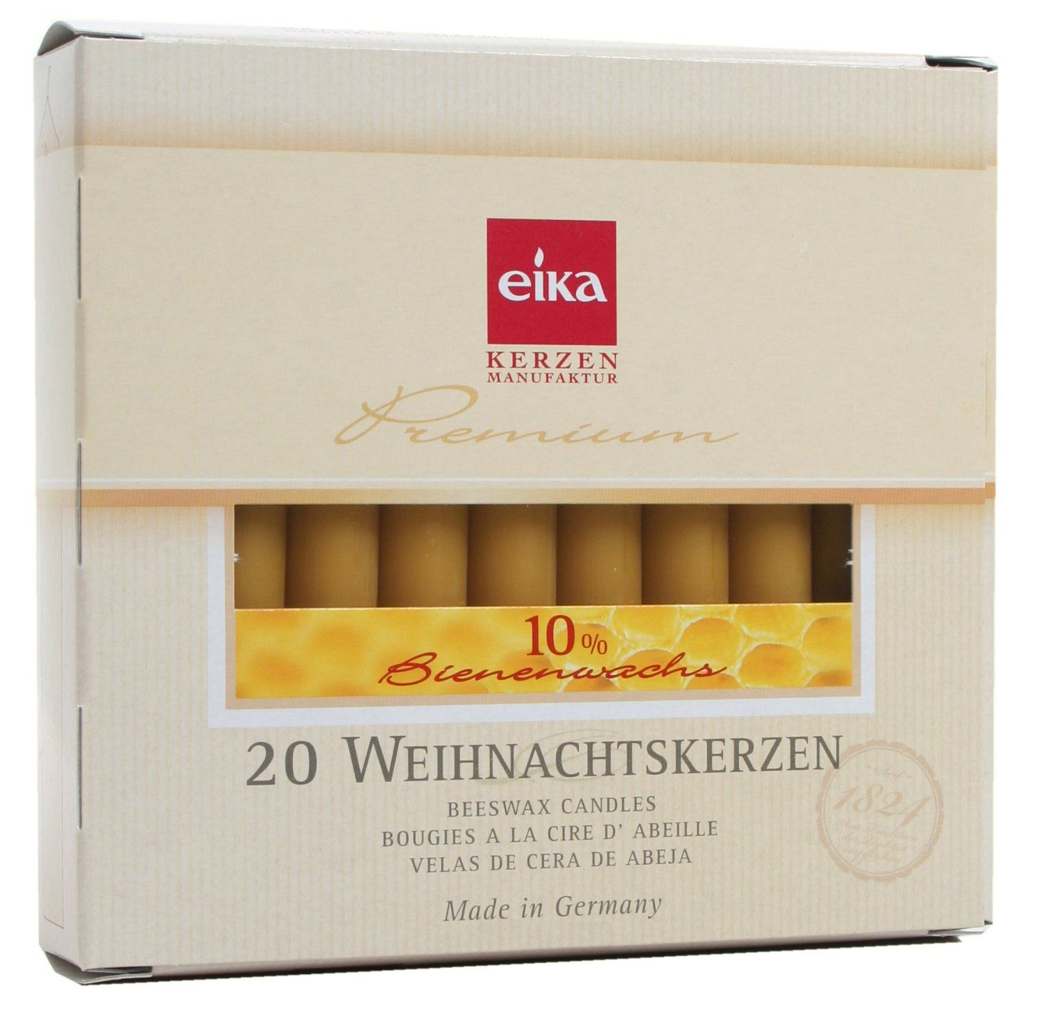 Eika 10 Percent Beeswax Tree Candles, 10.5-cm (Box of 20) *** You can get more details by clicking on the image.