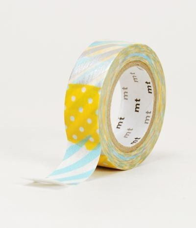 MT Washi Tape Patchwork Teal & Orange - Party Shop :: Big Dreams
