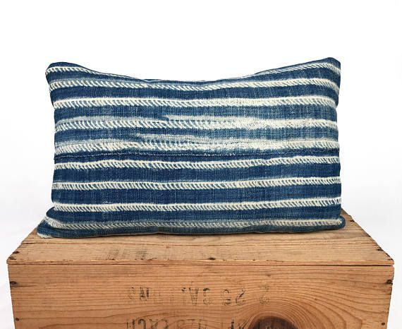 12X20 Pillow Insert New Vintage Indigo African Mudcloth Pillow Cover Mud Cloth 12X19 To Fit 2018
