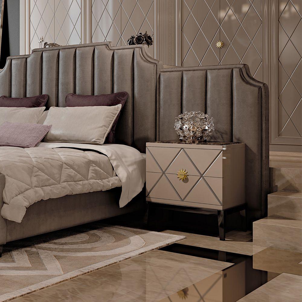 Master bedroom art  Art Deco Inspired Italian Designer Lacquered Bedside Cabinet