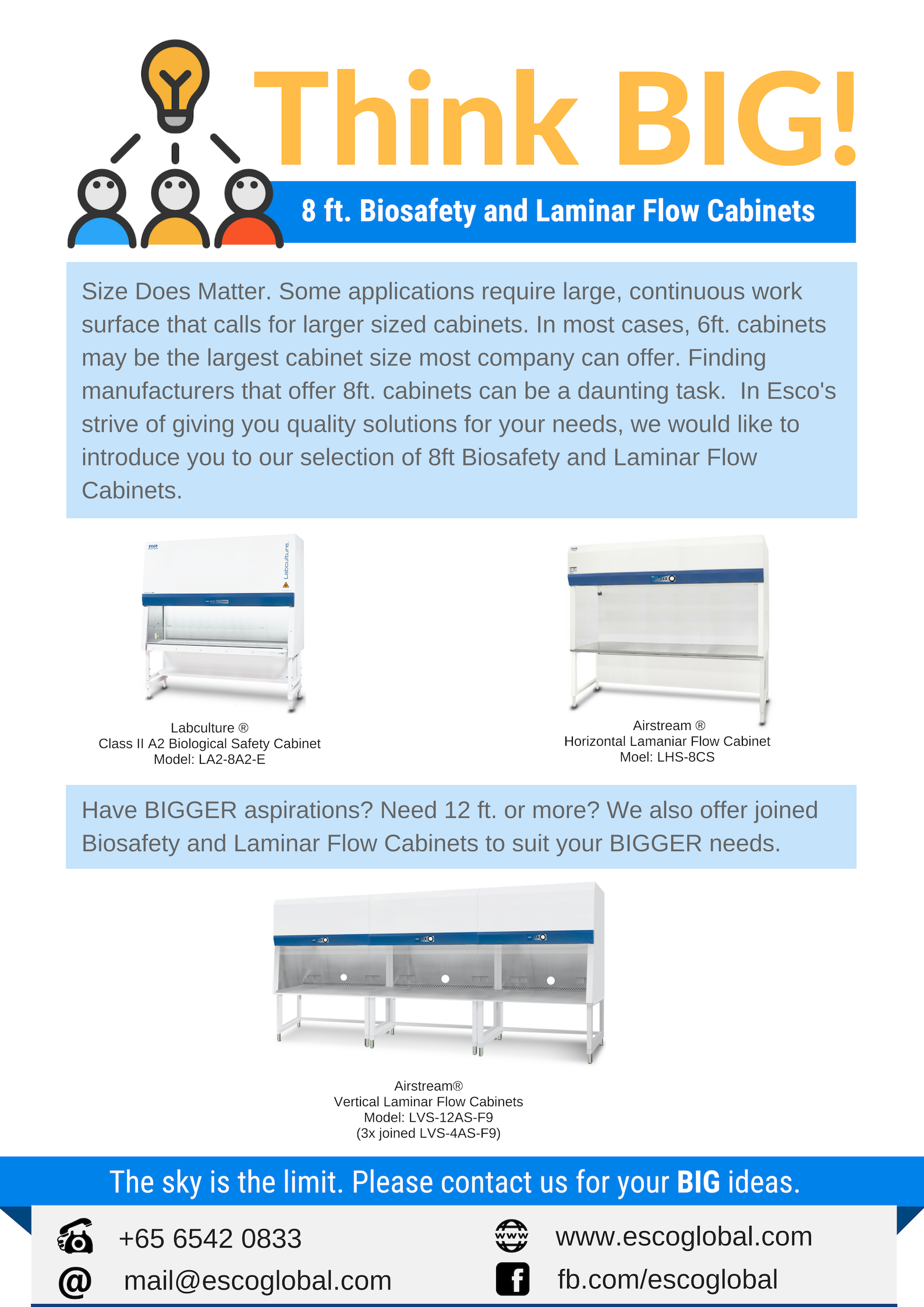 Does Size Matter Yes We Offer 8ft Biosafety And Laminar Flow Cabinets That Suits Your Laboratory Needs For More Information Visi Large Cabinet 8ft Cabinet
