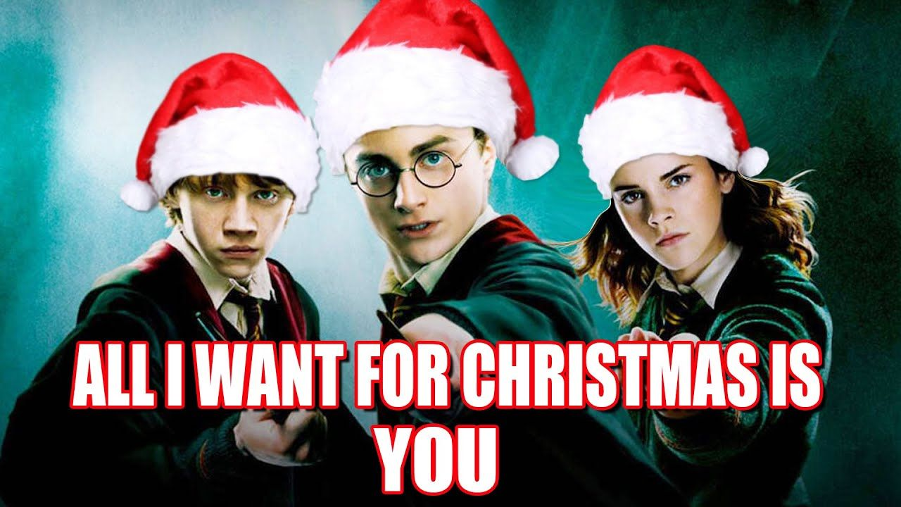 All I Want For Christmas Is You Cover By Harry Potter In 2020 Harry Potter Christmas Harry Potter Youtube Harry Potter