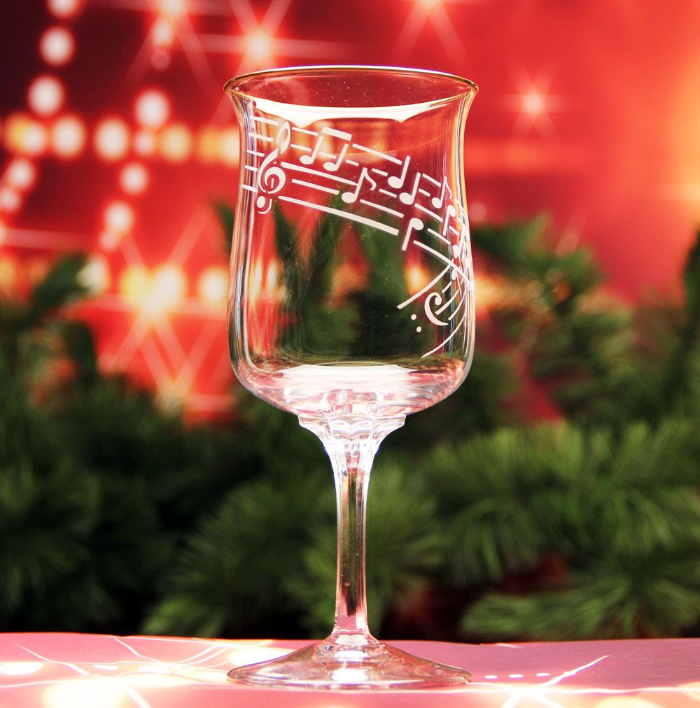 Music Lover S Wine Glass Diy Glass Etching Stencils They Re Re Usable Www Etchworld Com Wine Glass Glass Etching Projects Glass Etching Stencils