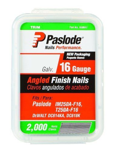 Paslode 650230 1 1 4 Inch By 16 Gauge 20 Degree Angled Galvanized Finish Nail 2 000 Per Box By Paslode 16 14 Save 12 It Is Finished Galvanized Air Tools