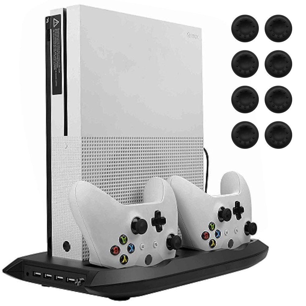 Lictin Xbox One S Vertical Stand Cooling Fan With Dual Charging