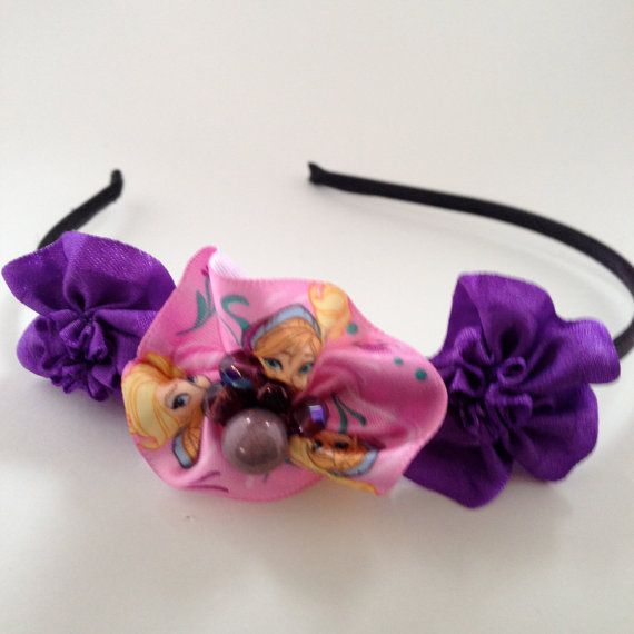 FROZEN: Beaded Purple Headband by OmaDesigns on Etsy
