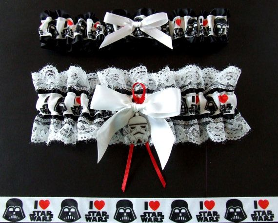 I Love Star Wars Garter Set / You Choose the by PikesPeakCreations