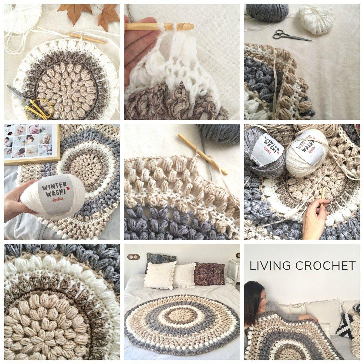 Living Crochet:comment crocheter un tapis rond avec notre fil Katia ...