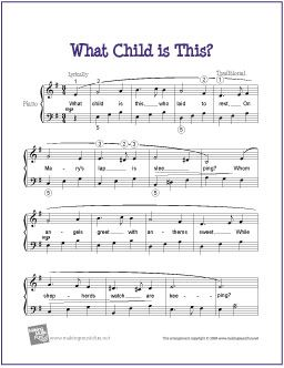 What Child Is This Christmas Free Sheet Music For Easy Piano