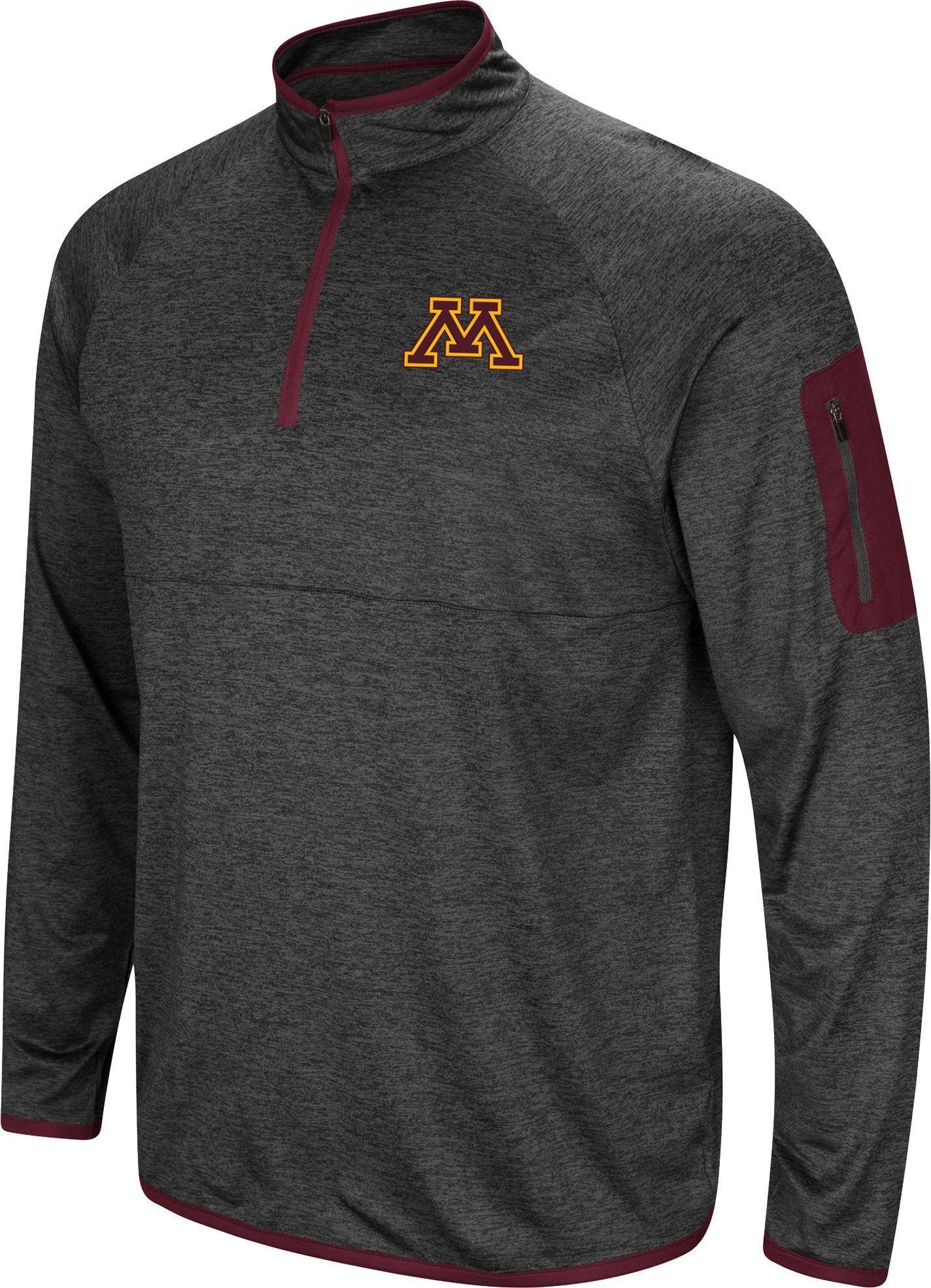 9e5784730 Colosseum Men's Minnesota Golden Gophers Grey Amnesia Quarter-Zip Shirt,  Gray