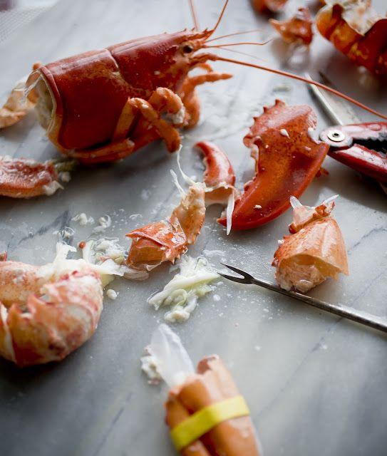 Saffron Aioli Oil Lobster with Creamy Basil Pasta