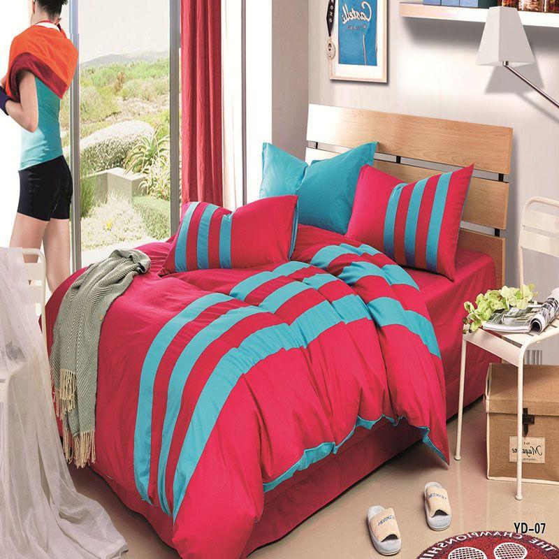 c2b6f529445e  Doremi  Sports style 4Pcs Bedding Sets 100%Cotton Duvet Cover Flat Sheet