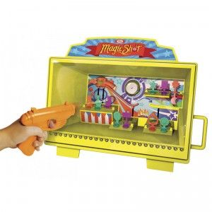 The Magic Shot Shooting Gallery brings the fun of a carnival game into your home.