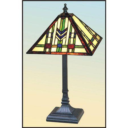 Very Colorful Chevron Design Craftsman Table Lamp.